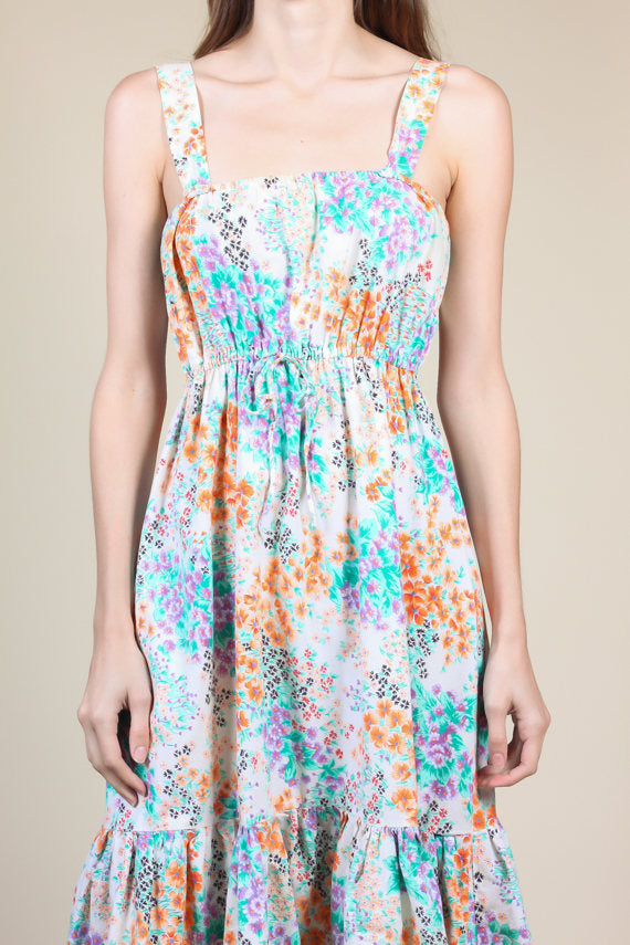 70s Floral Sundress - XS/Small