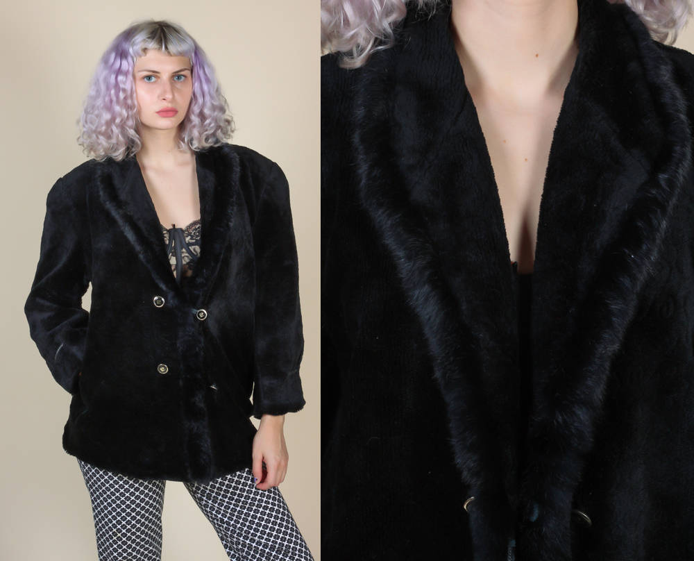70s Pierre Cardin Faux Fur Coat