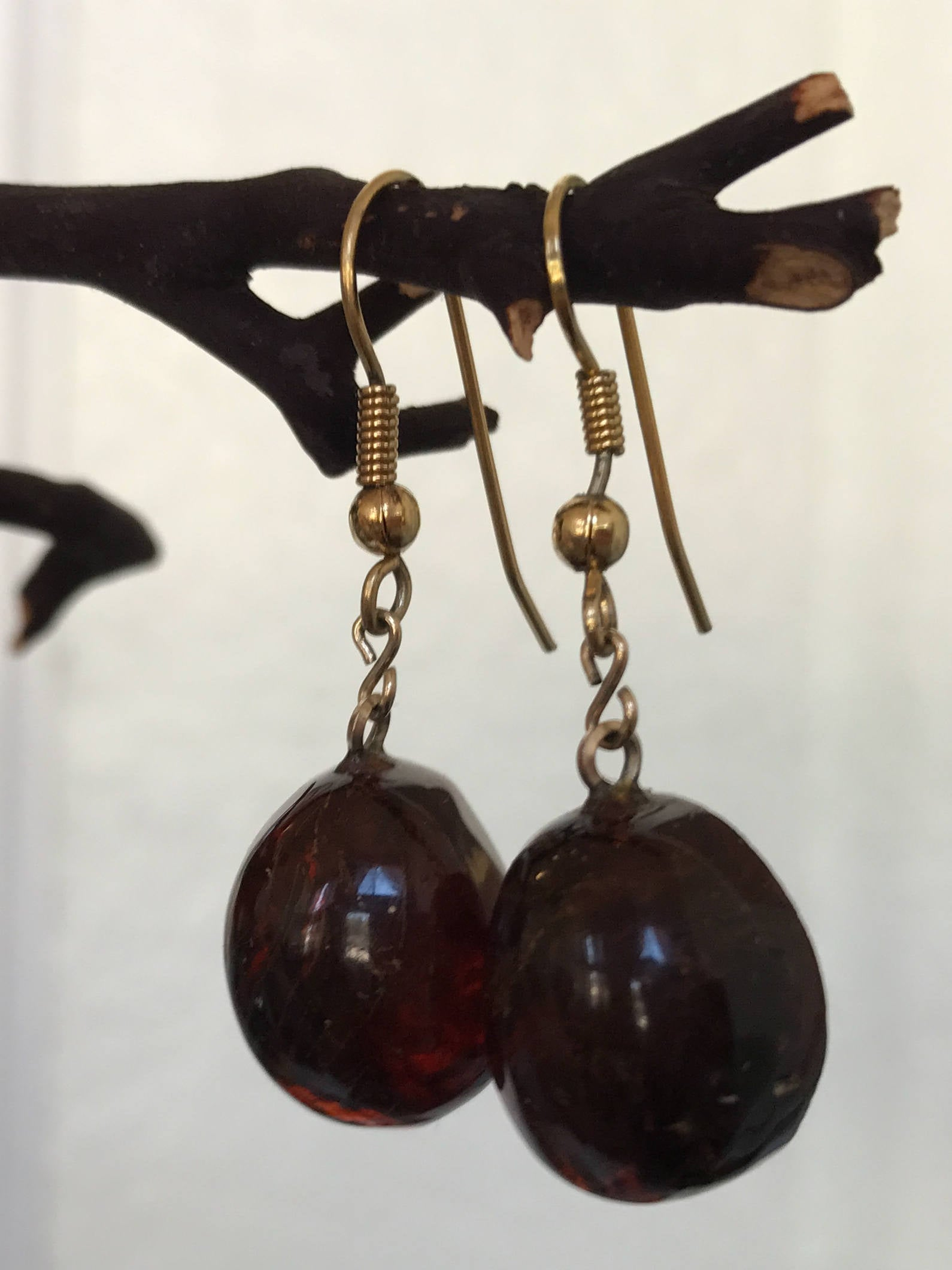 Vintage Amber Earrings