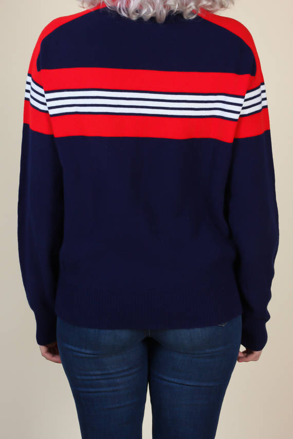 2f1bb441e8175c 80s Striped Sweater – Flying Apple Vintage