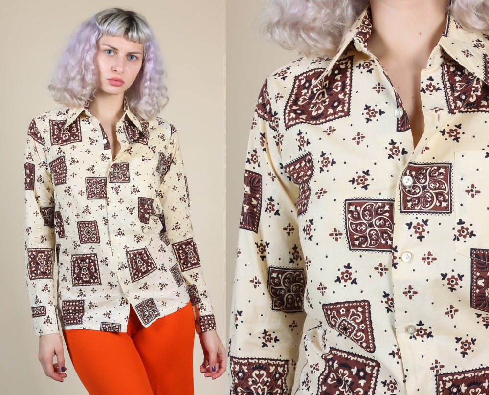 70s Bandana Button Up Shirt