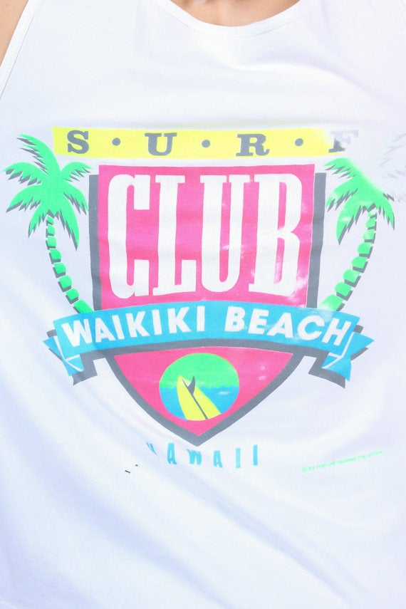 90s Waikiki Beach Surf Club Tank Top