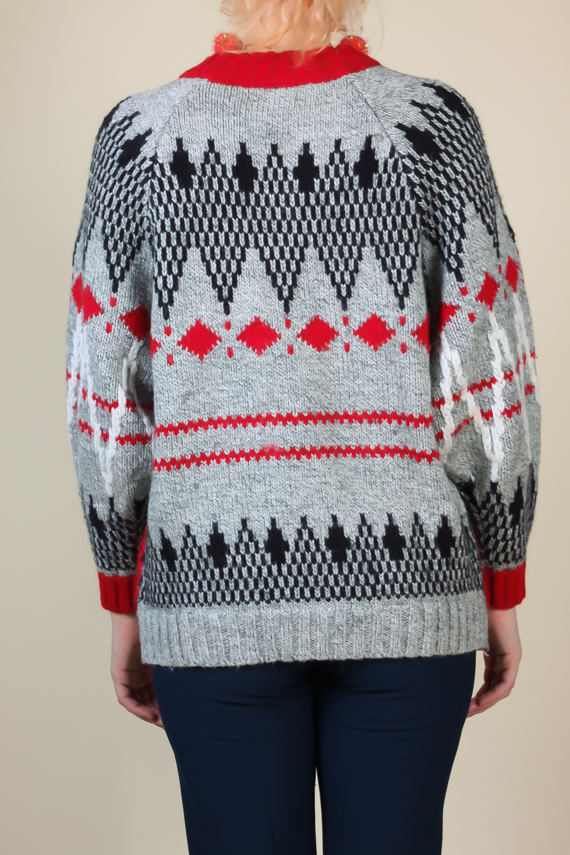 80s Geometric Sweater