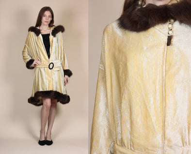 1920s Velvet Opera Coat - One Size