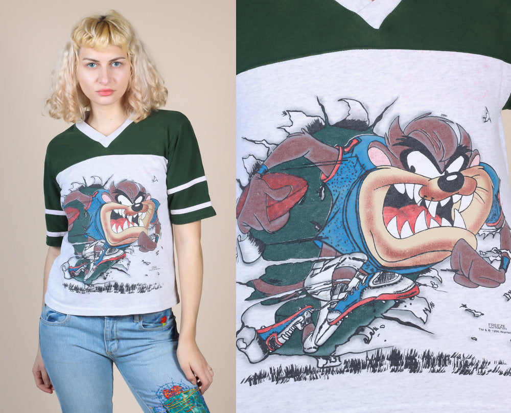 90s Looney Tunes Football Shirt - Small