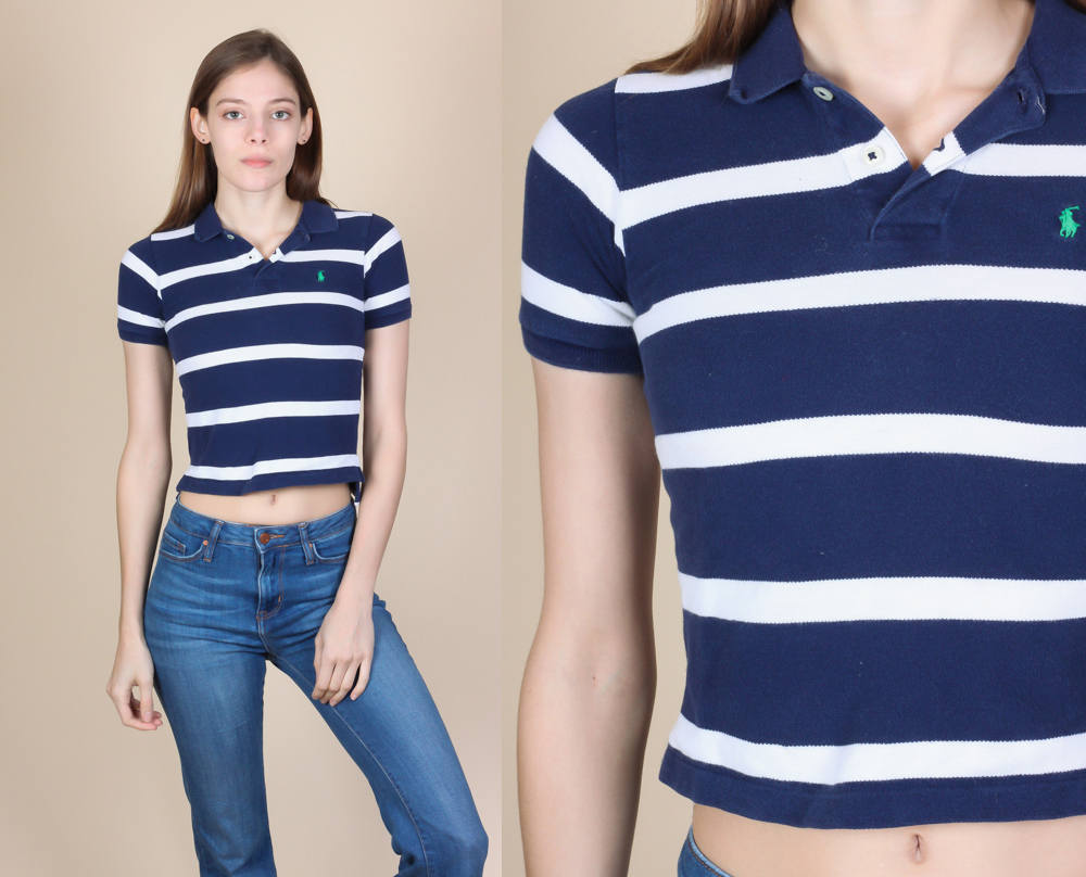 Ralph Lauren Polo Crop Top - XXS Petite