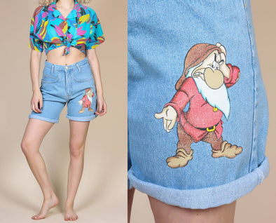 90s Seven Dwarfs Grumpy Shorts - Small/Medium