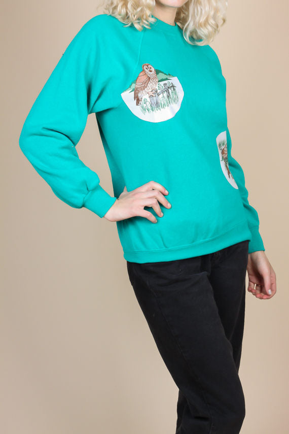 90s Owl Sweatshirt - Medium