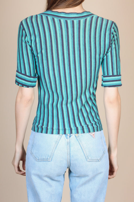 90s Striped Top - XS