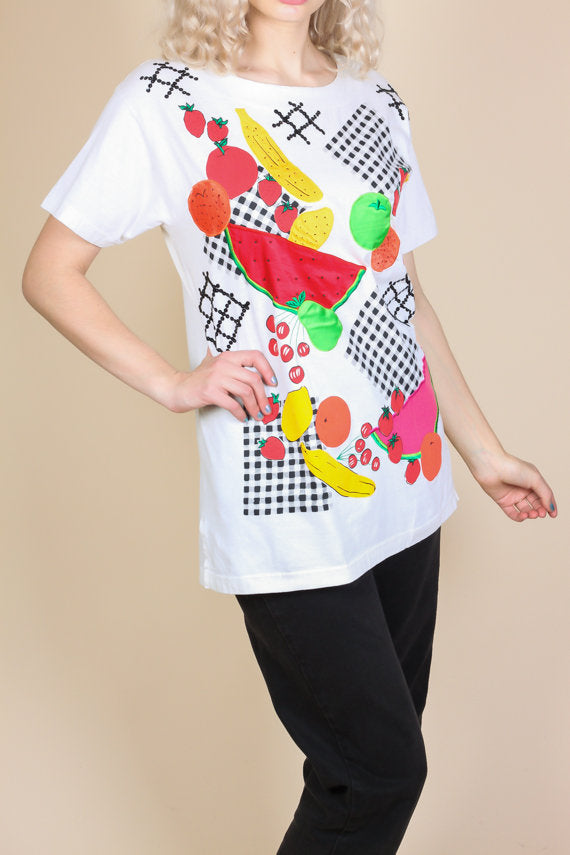80s Fruit T Shirt - Medium