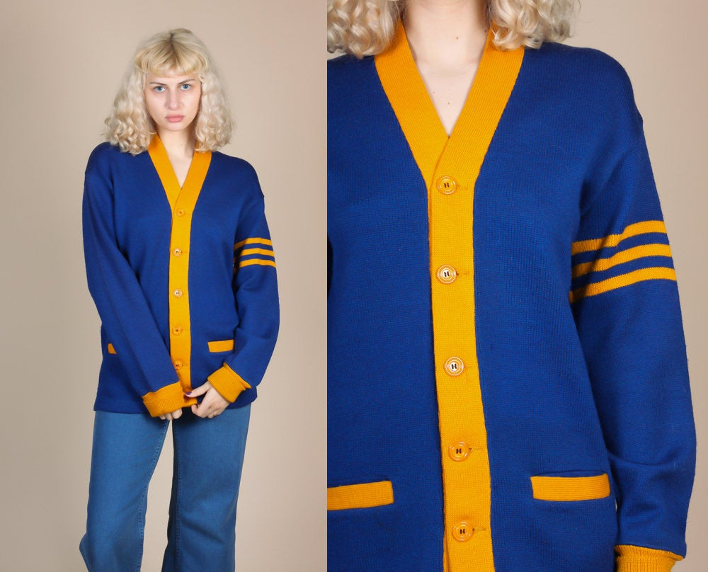 1920s Davega Sportswear Cardigan Sweater Unisex - Small/Medium