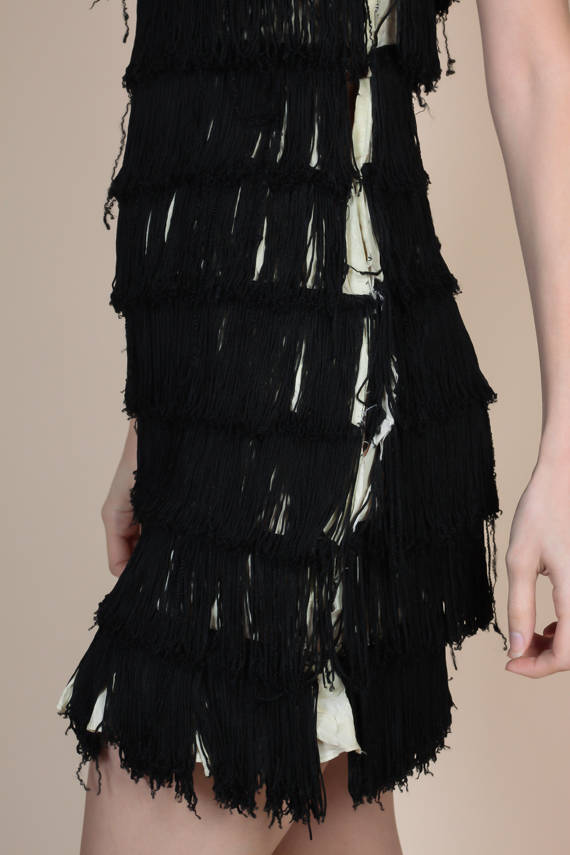 1920s Fringe Dress Flapper Dress - Extra Small XS