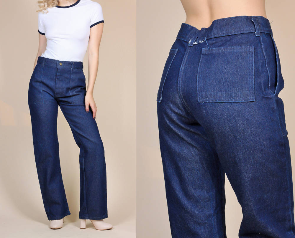 Retro 70s Jeans - Womens Large