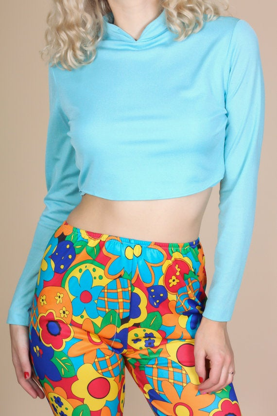 70s Disco Crop Top - Medium