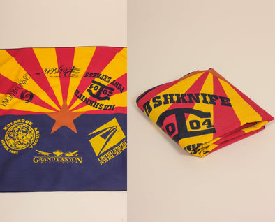 Vintage Arizona Flag Handkerchief