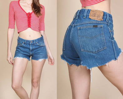 80s Cutoff Jean Shorts - Small to Medium