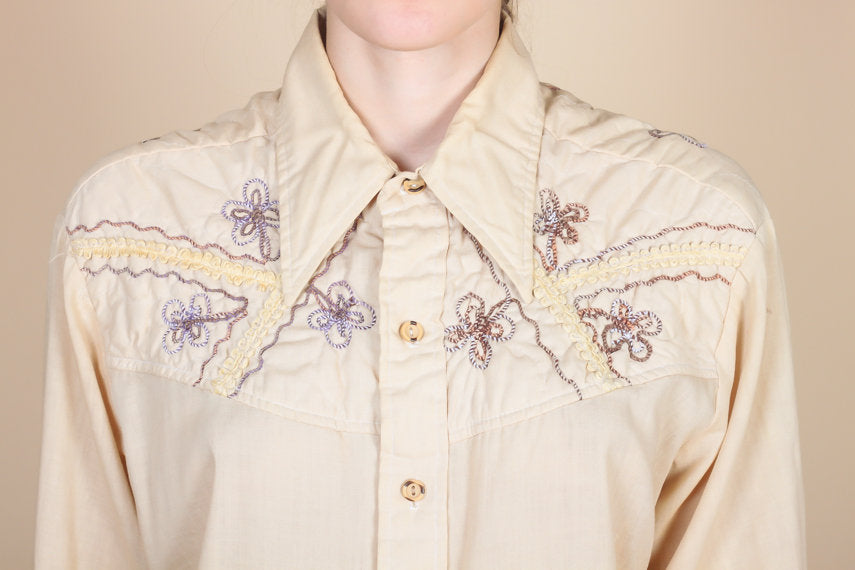 70s Boho Kennington Button Up Shirt - Extra Large