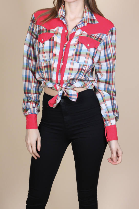 Retro 70s Western Shirt - Medium