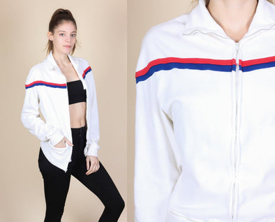 Retro Striped Track Jacket - Small