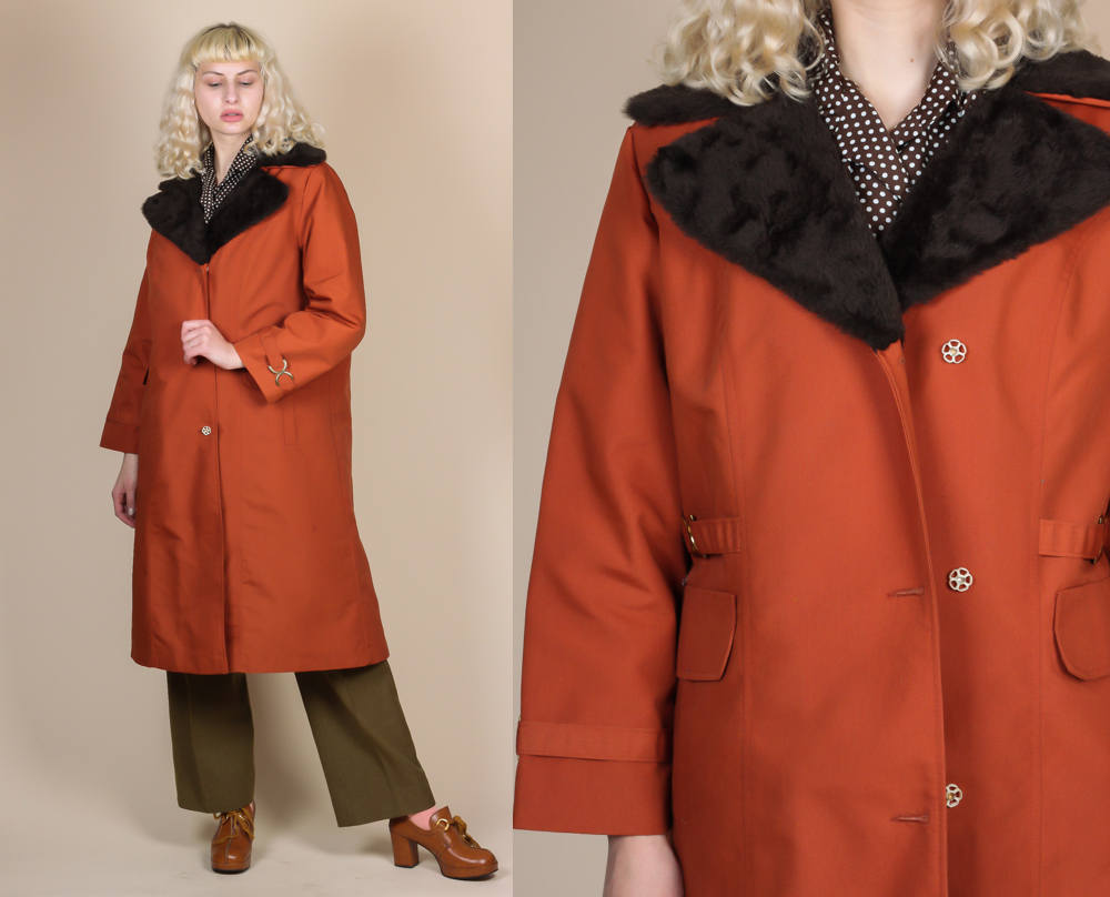 70 Faux Fur Lined Coat - Extra Large