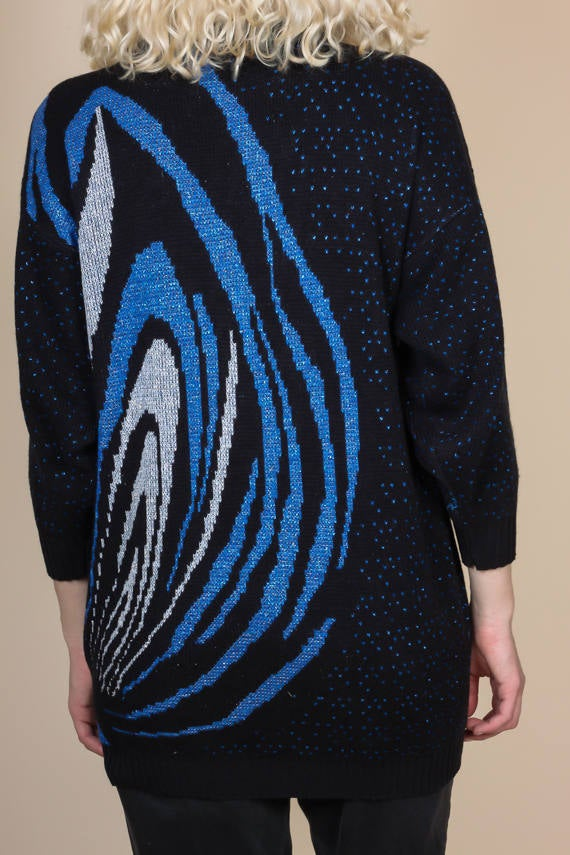 80s Metallic Galaxy Sweater - Size 20W