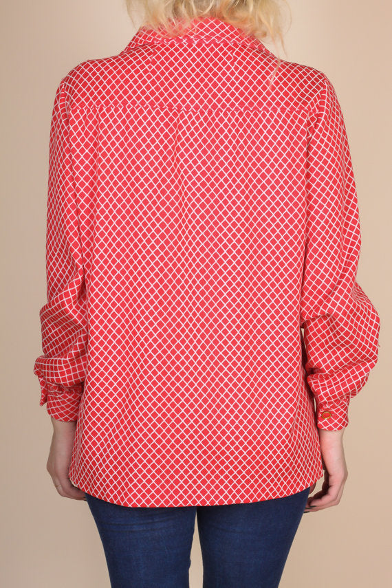 Retro 70s Button Up Blouse - Extra Large
