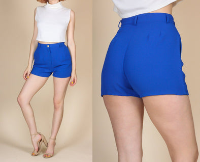 Vintage High Waist Blue Shorts - Small