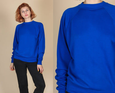 80s Raglan Sleeve Sweatshirt - Medium to Large
