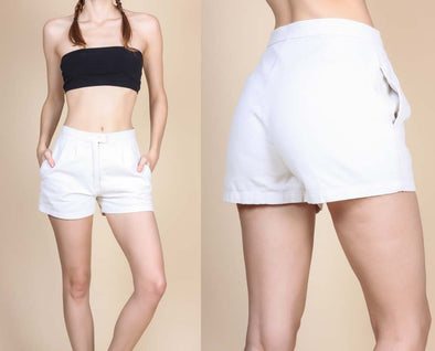 80s High Waisted Corduroy Shorts - Small