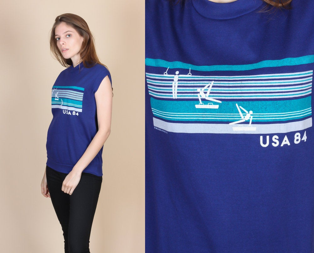 1984 Olympics USA Gymnastics Tank Top - Medium