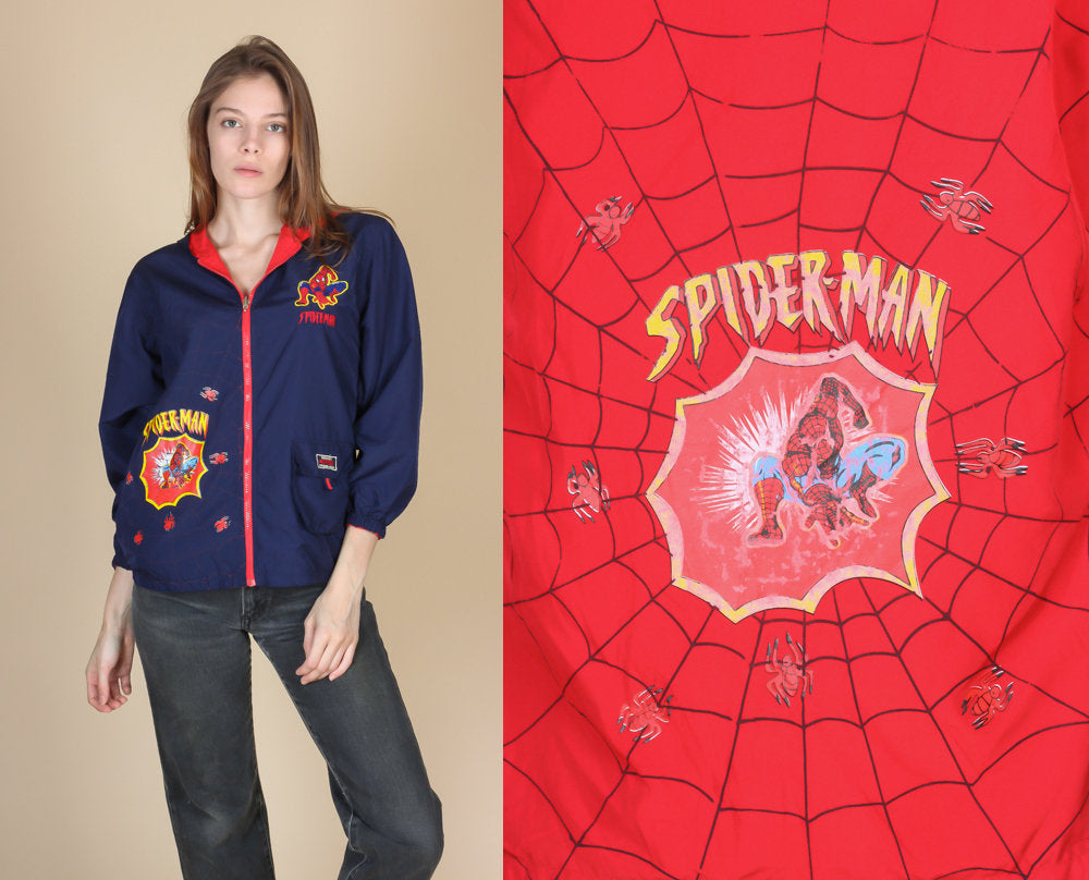 Reversible Spiderman Windbreaker - XS to Small