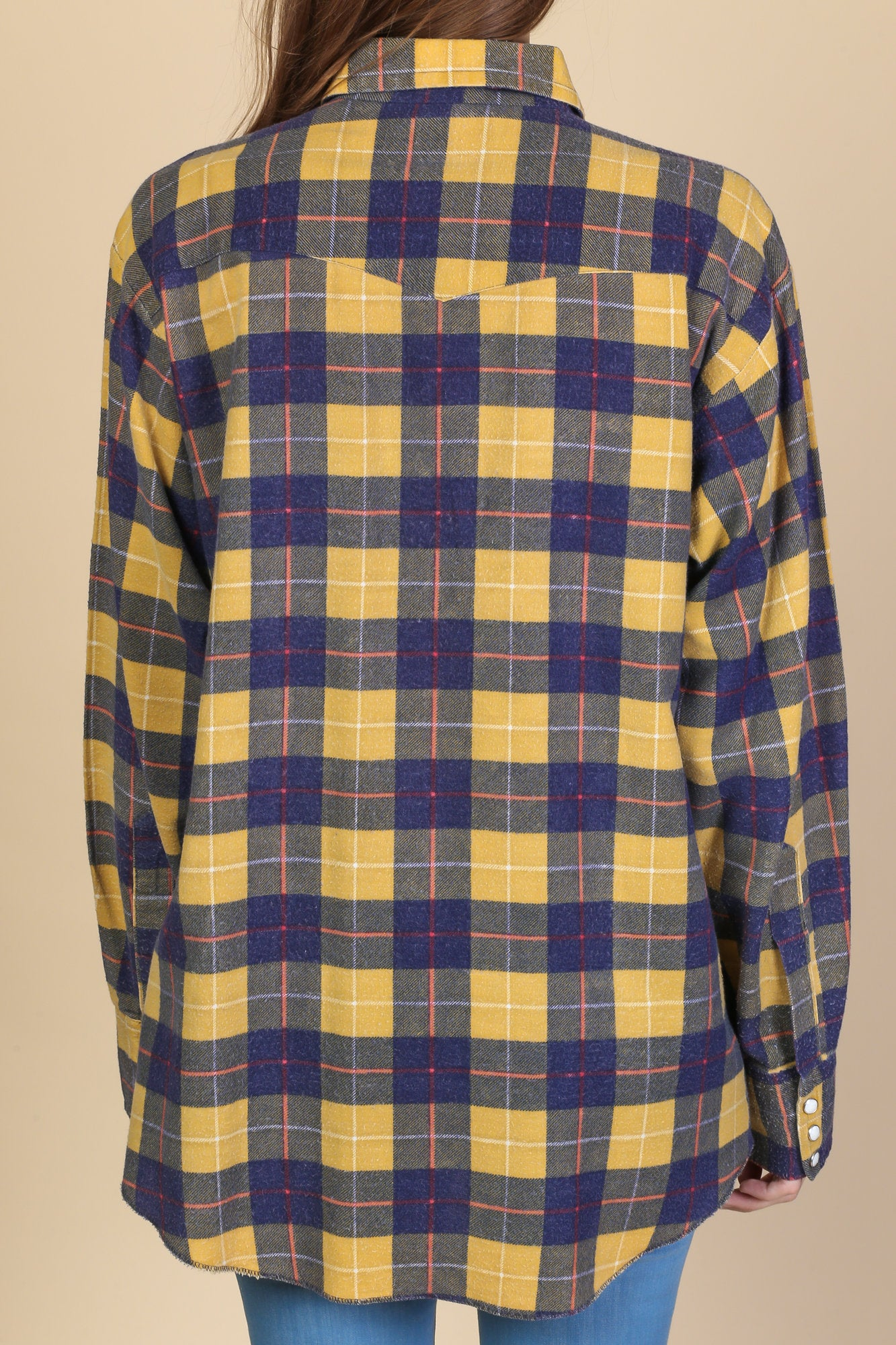 6278d59b6d0a 80s Pearl Snap Plaid Flannel - Mens Large – Flying Apple Vintage