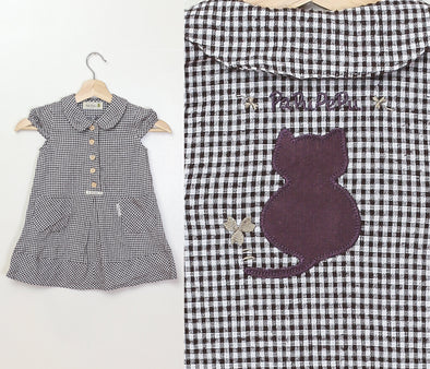 Vintage Baby Gingham Dress - 18-24 months
