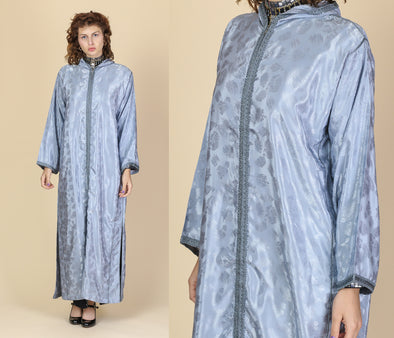 60s Damask Tassel Hooded Kaftan - One Size