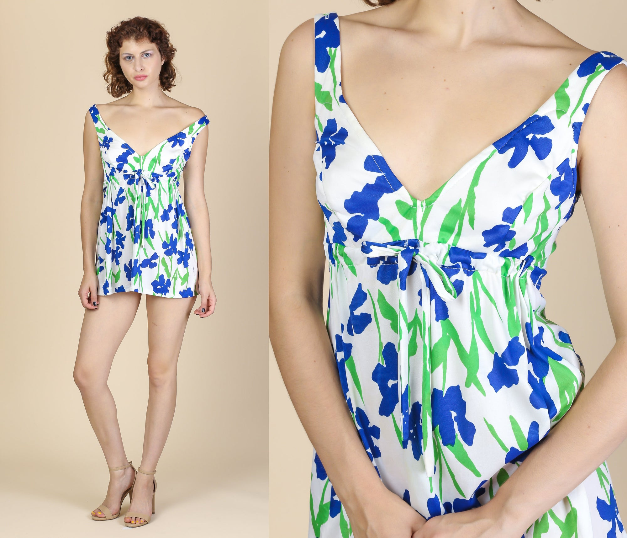 Vintage Floral Swim Dress - Medium to Large