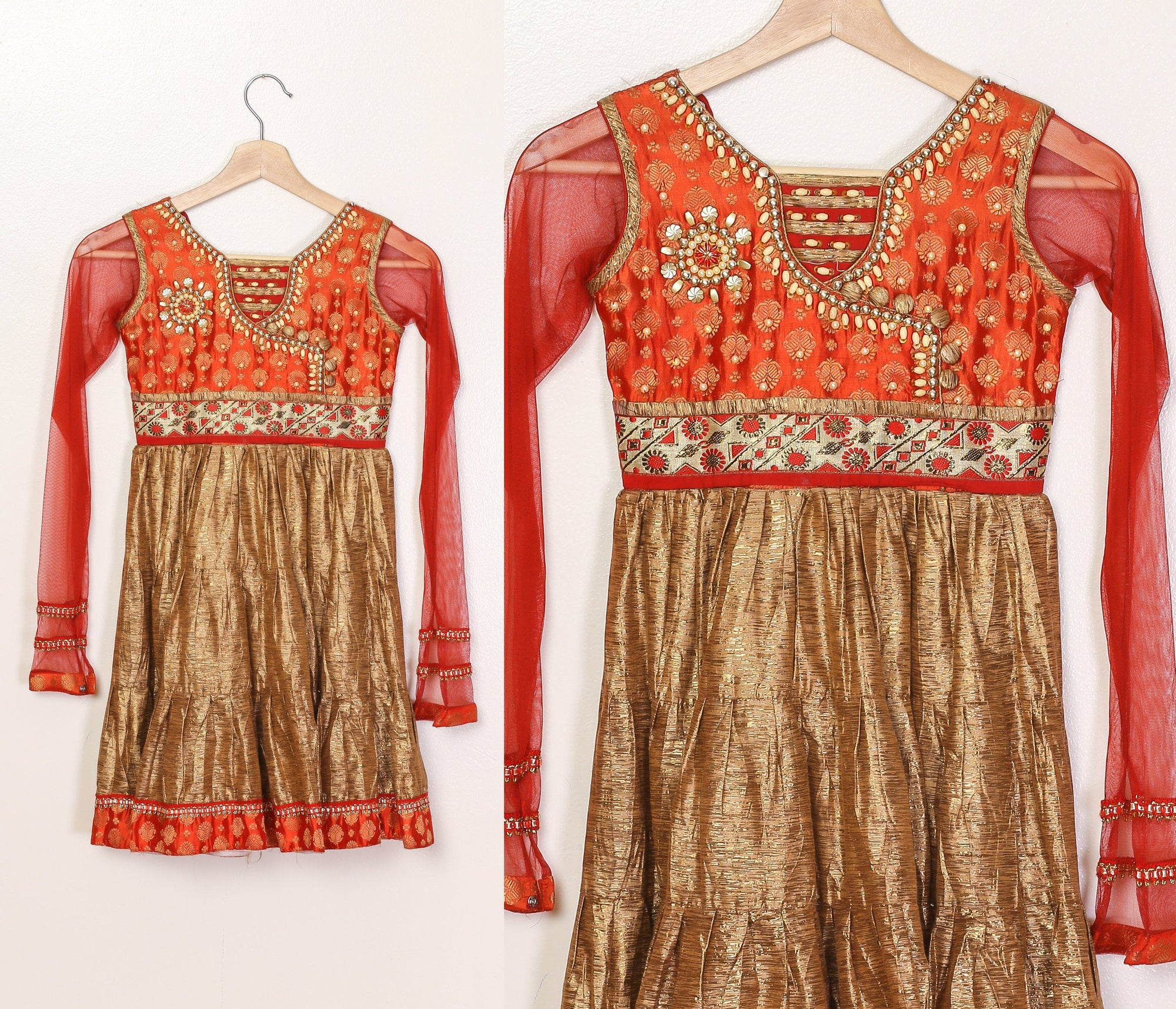 Vintage Indian Girls Dress - Size 6