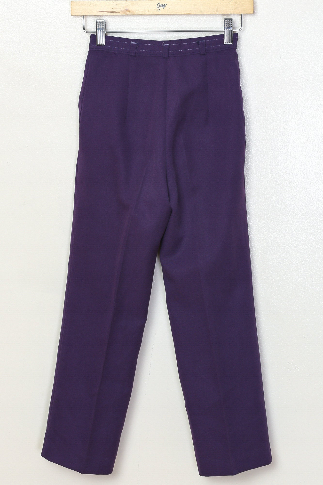80s Purple Pleated Pants - Youth Small