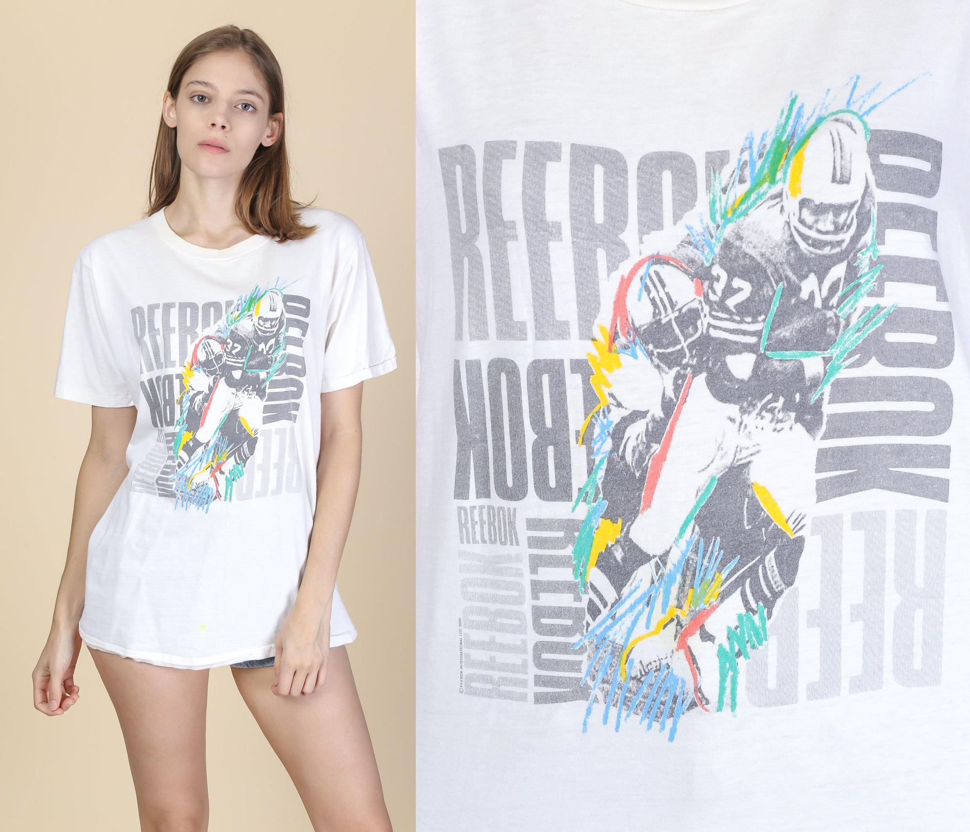 90s Reebok T Shirt - Large