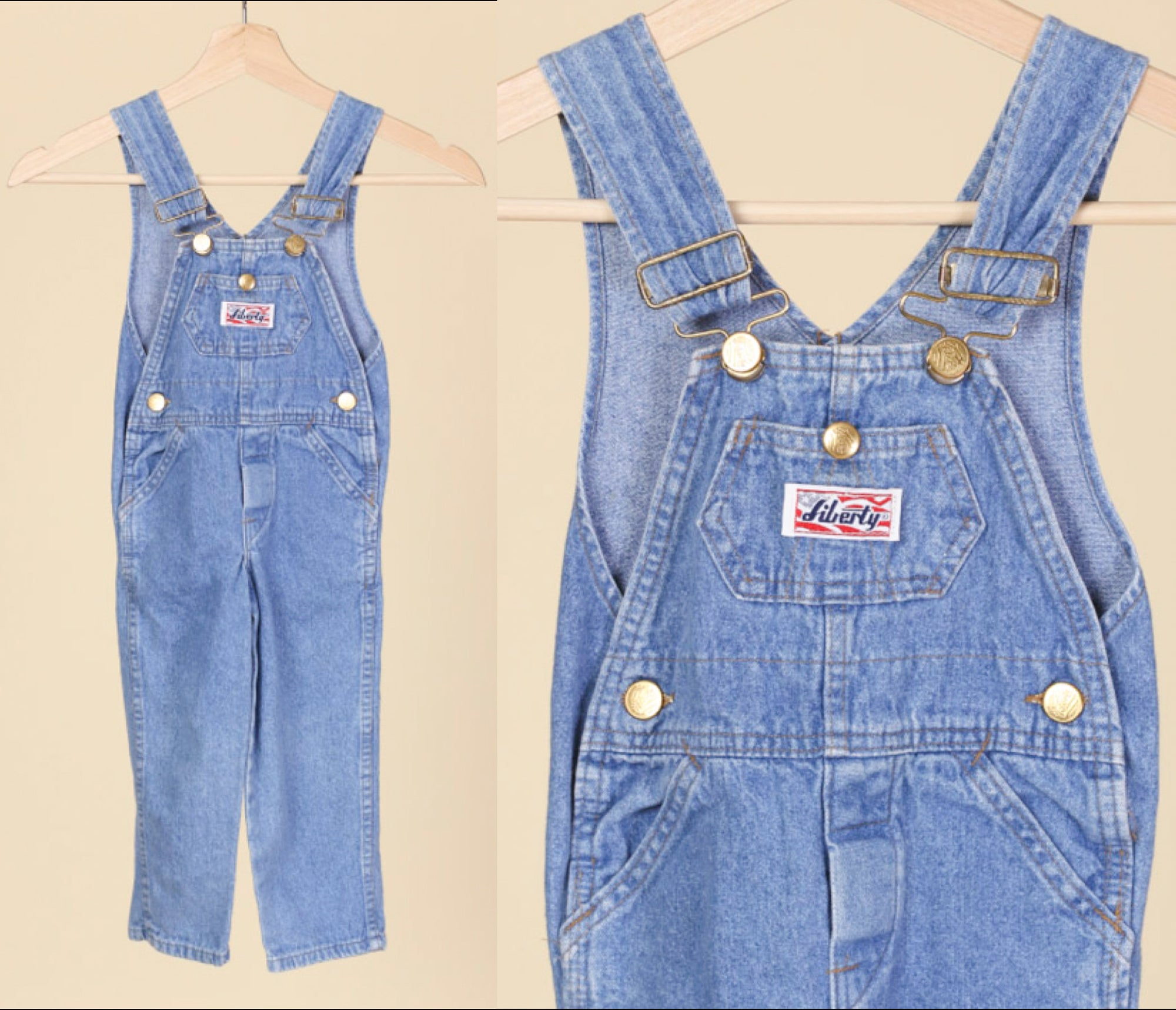 90s Toddler Denim Overalls - 3T