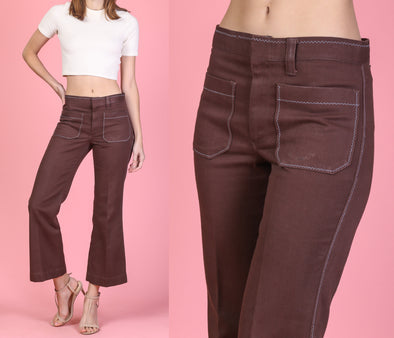 60s 70s Saddleback Kick Flare Pants - Small
