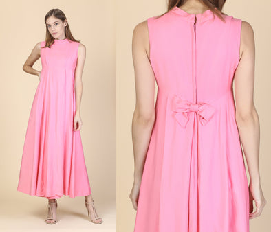 Vintage Emma Domb Pink Prom Party Dress - Extra Small