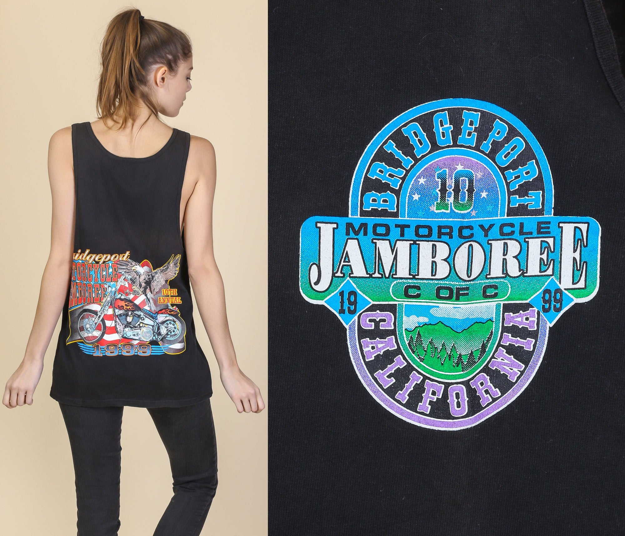 90s Bridgeport Motorcycle Jamboree Tank - Men's Medium