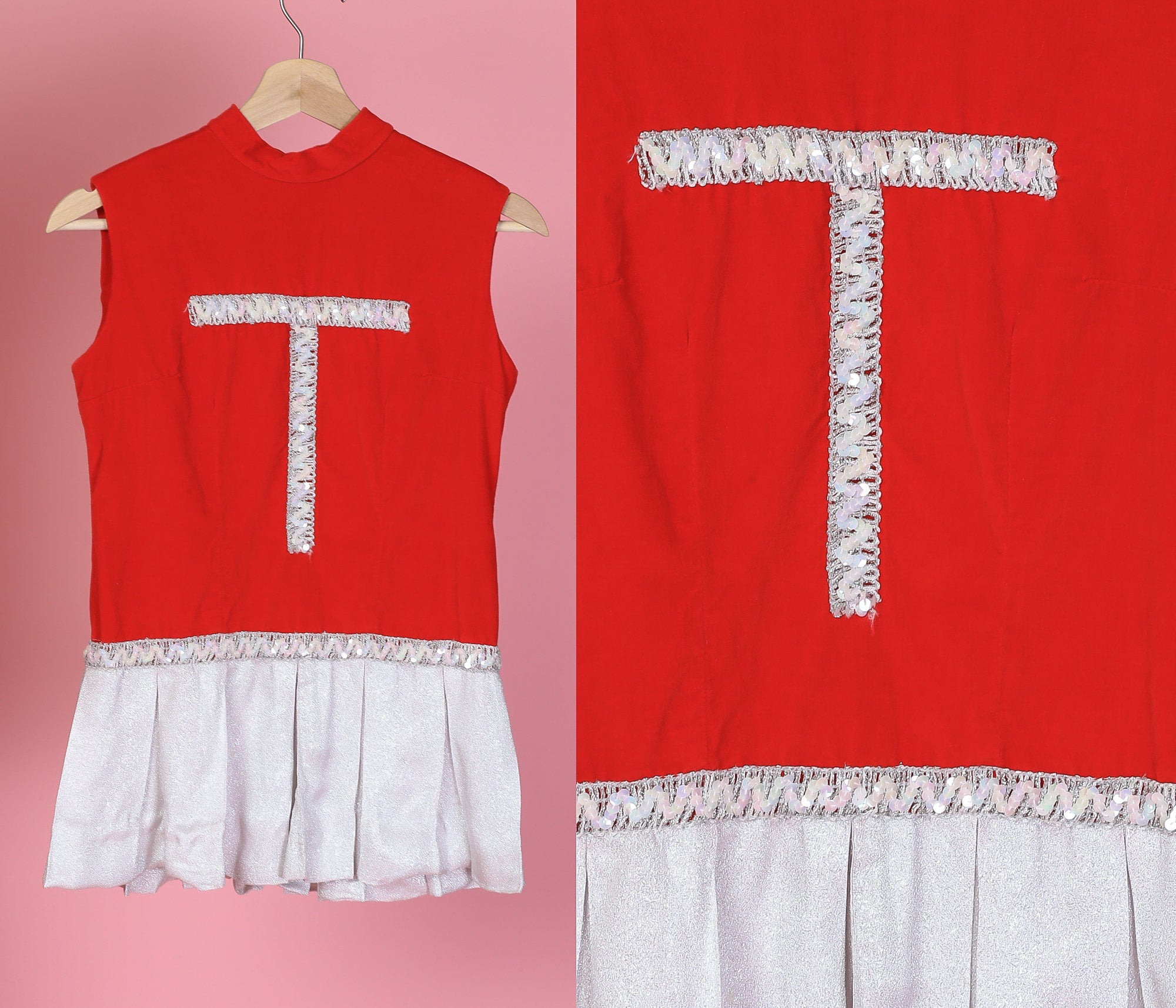 Vintage 60s Girls Cheerleading Dress - 12-14