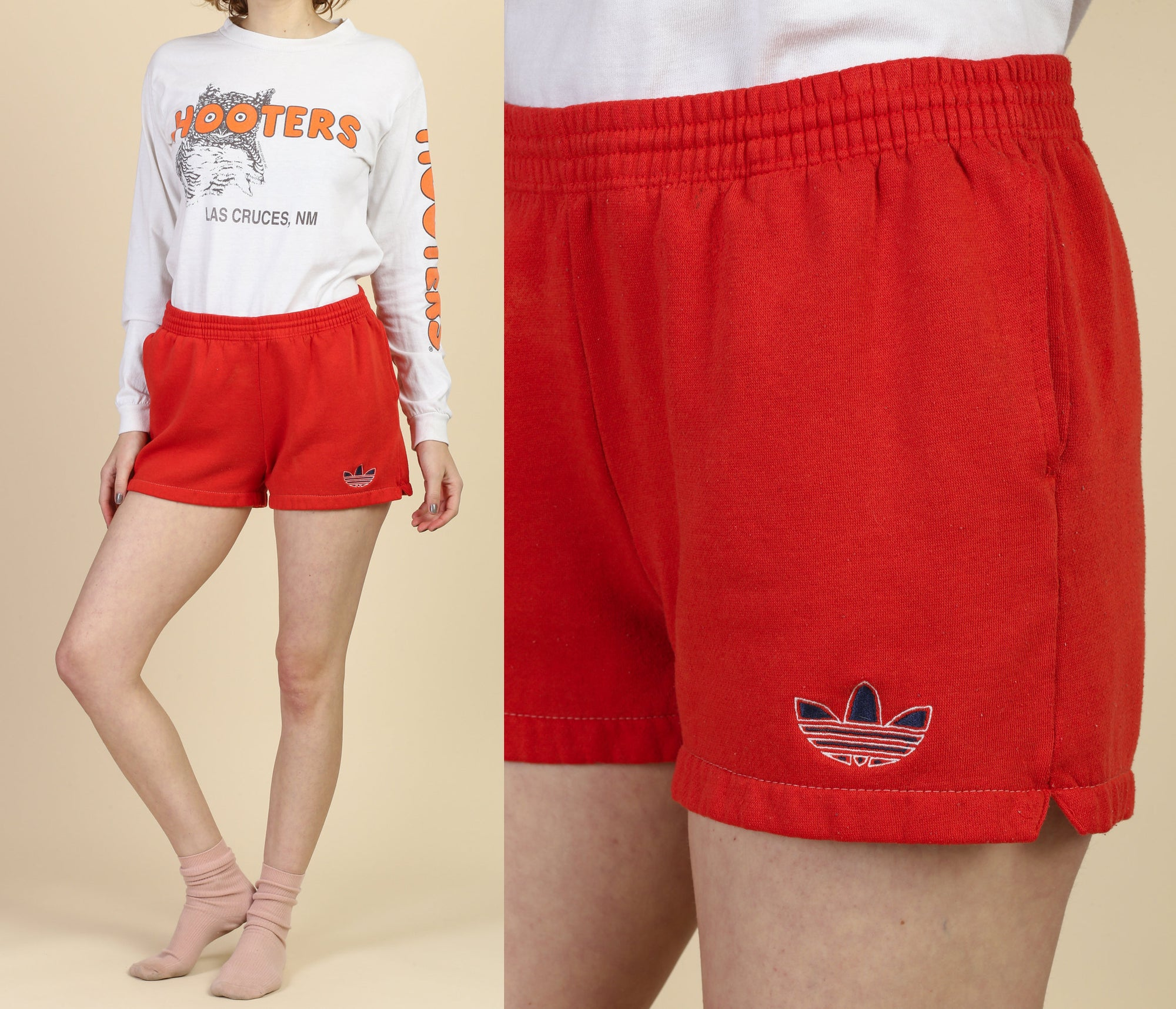 Vintage Adidas Trefoil Logo Shorts - Medium to Large