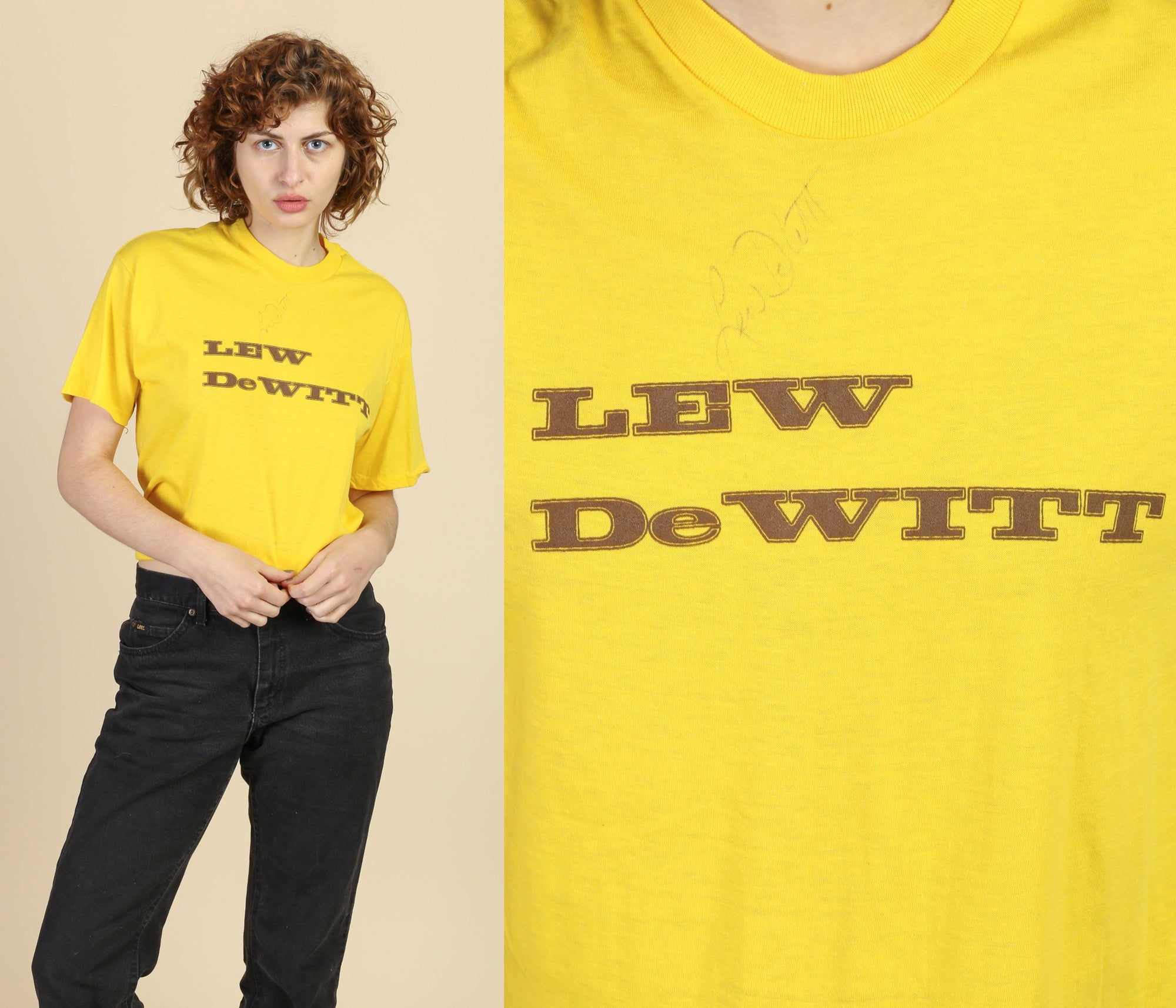 80s Autographed Lew Dewitt T Shirt - Extra Large