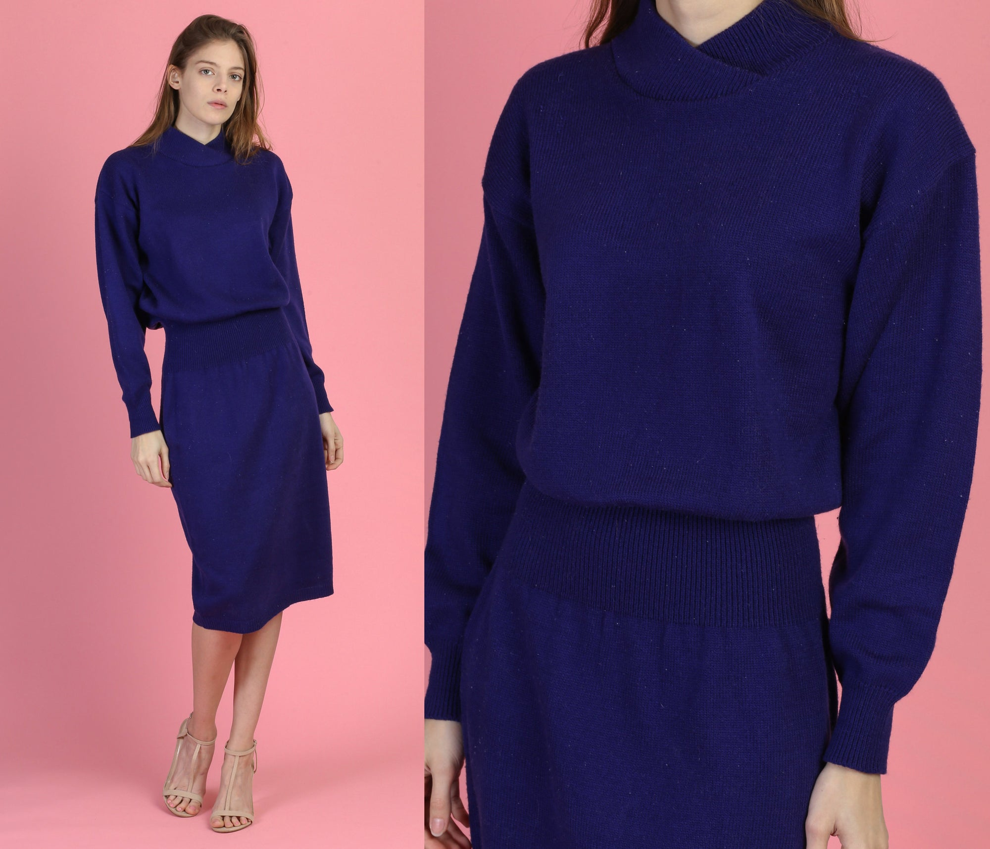 80s Minimalist Sweater Dress - Medium