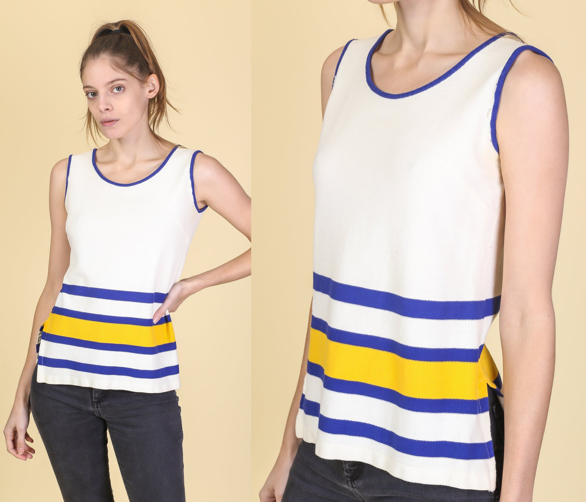 60s Jantzen Sportswear Tank Top - Small to Medium