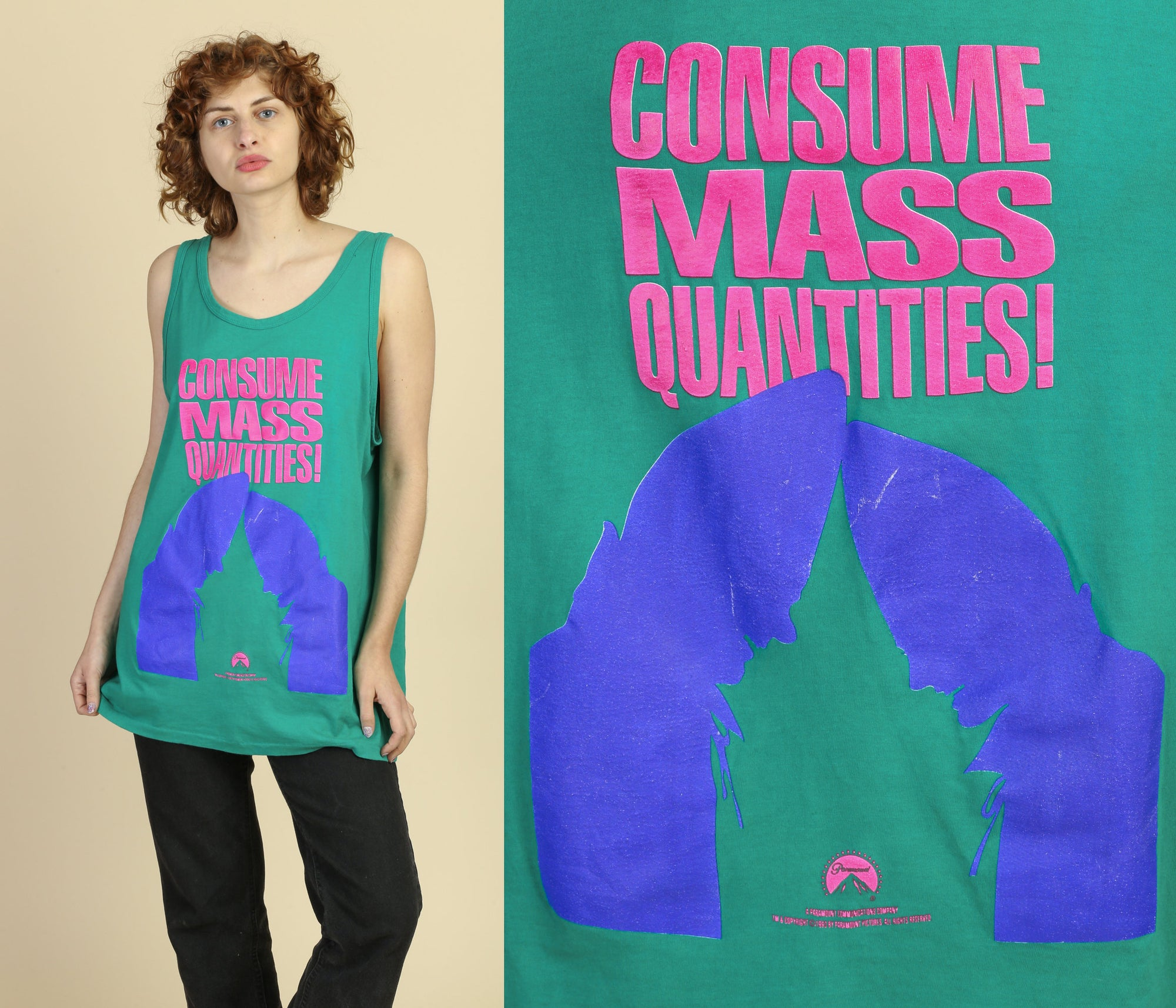 "90s Coneheads ""Consume Mass Quantities"" Tank - Extra Large"