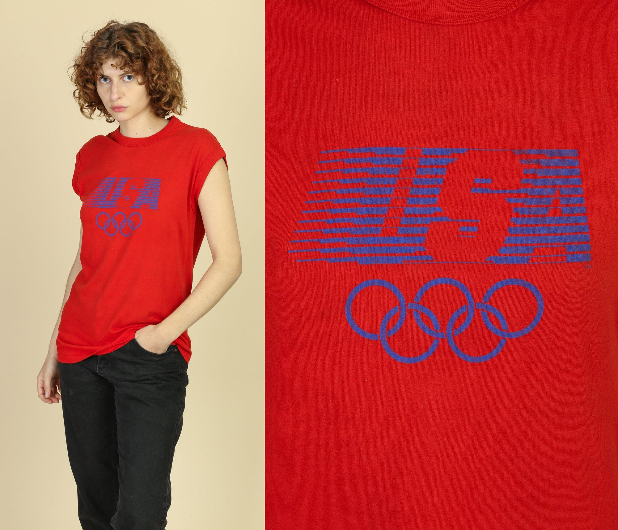 1984 Olympics USA Muscle Shirt - Large