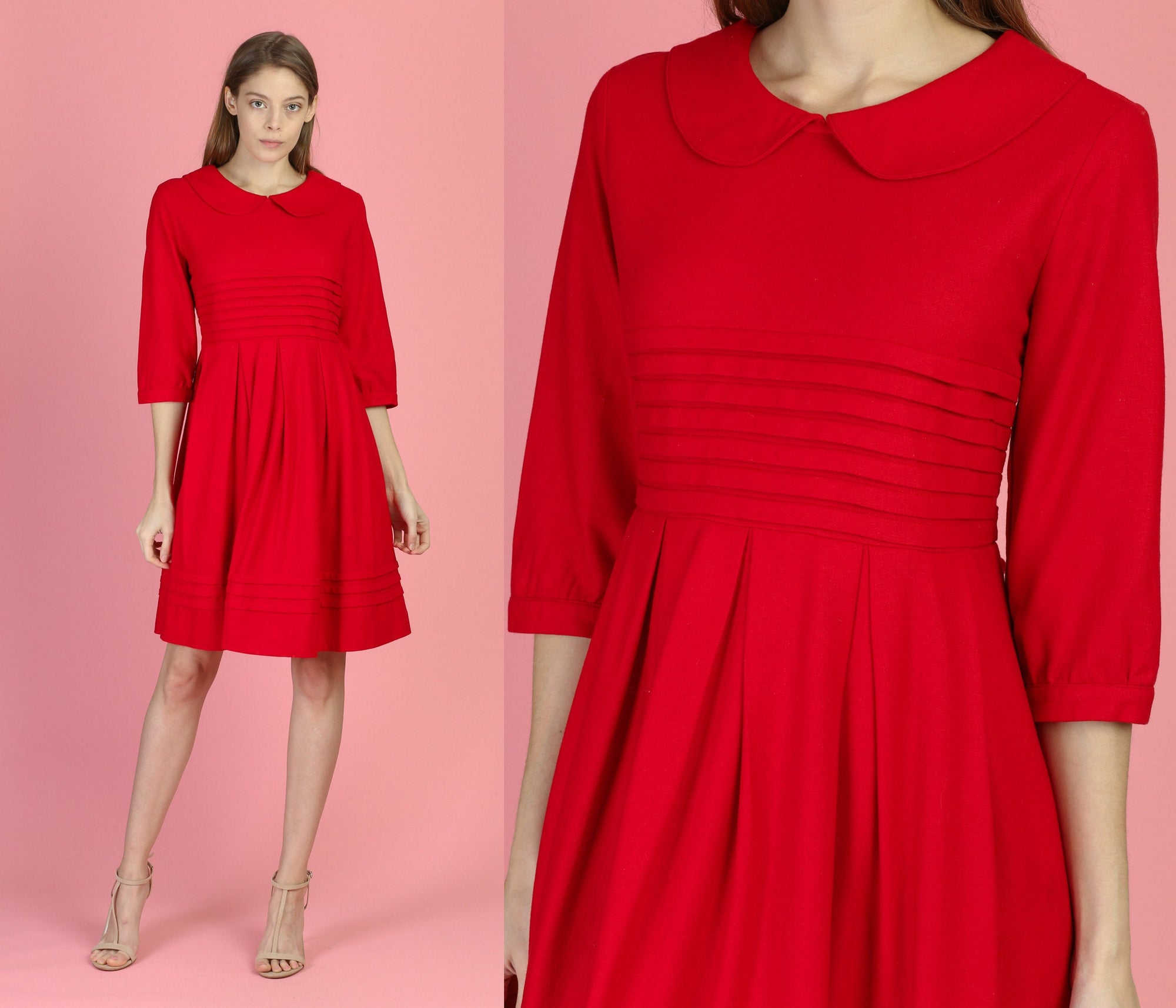 Vintage Miu Miu Red Mini Dress - Medium